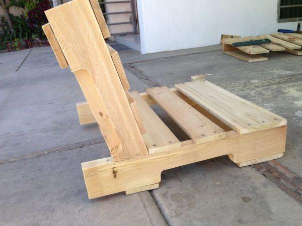 спинка и сиденье из поддона