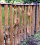 Заборчик из отходов деревообработки