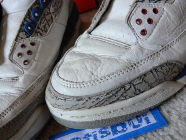 Заломы на кожаный кроссовках