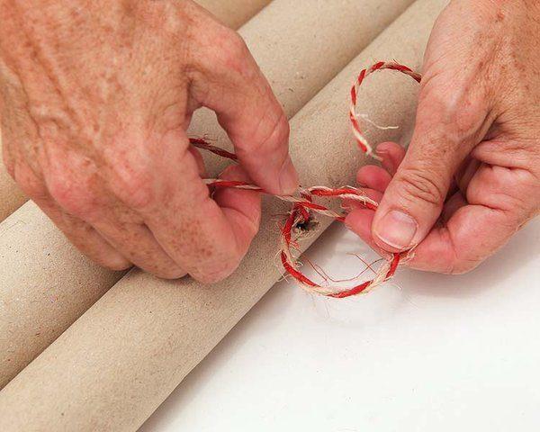 Затягивание узла на верёвке