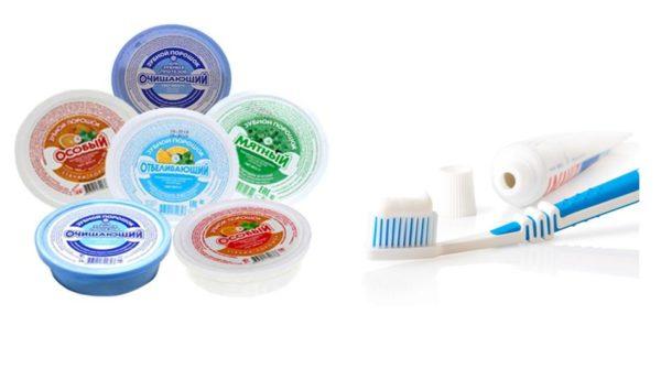 Зубная паста и порошок
