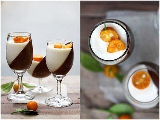 Апельсиновая панна-котта с тёмным шоколадом