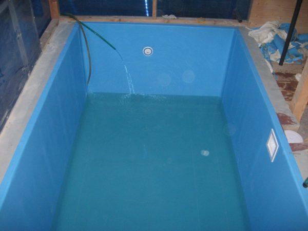 Бассейн с ПВХ плёнкой