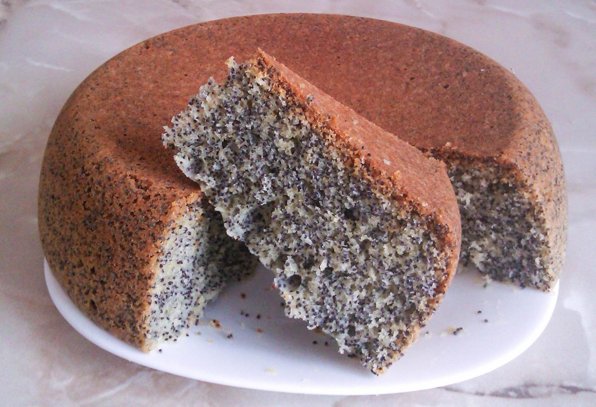 Бисквит с маком для торта рецепт с пошагово