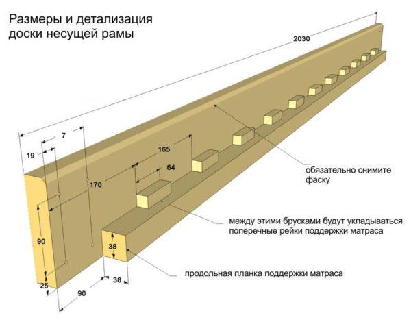 Основание под матрац двухъярусной кровати