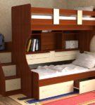 Кровать-трансформер с выдвижным спальным местом