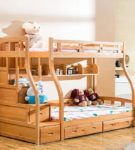 Двухъярусная кровать с гнутыми опорами