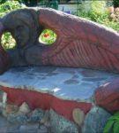 Глиняная скамейка