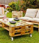 Комплект садовой мебели своими руками