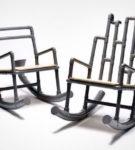 Кресла-качалка из пластиковых труб