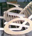 Кресло-качалка из фанеры
