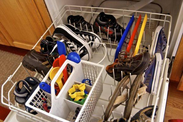 Мытьё обуви в посудомоечной машине