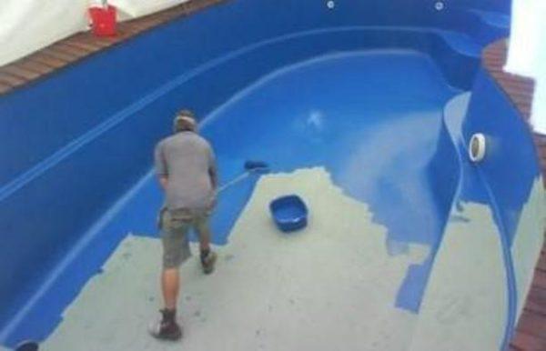 Окрашивание бассейна