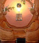 Оригинальная глиняная скамейка