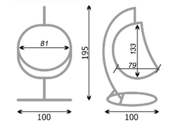 Схема кресла-кокона