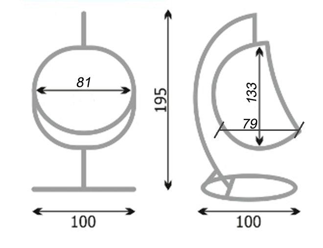 Схема плетения подвесного кресла 89
