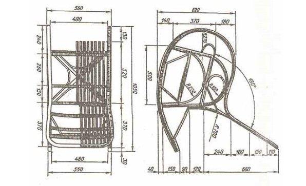 Кресло качалка своими руками чертежи из металла фото