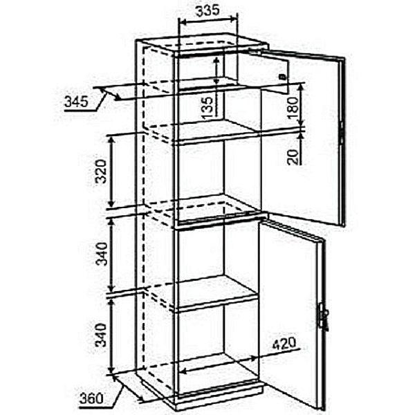 Шкаф-стойка с распашными дверцами