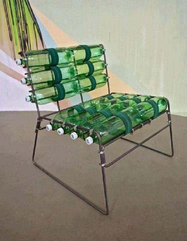 Скамейка из пластиковых бутылок