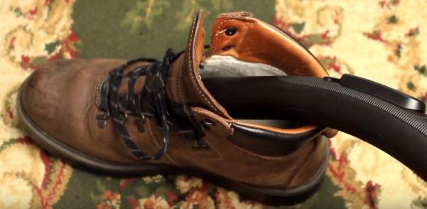 Сушка обуви пылесосом
