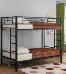 Металлическая двуспальная кровать для взрослых
