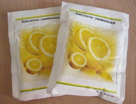 2 пакета с лимонной кислотой