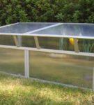 Парник с односкатной крышей