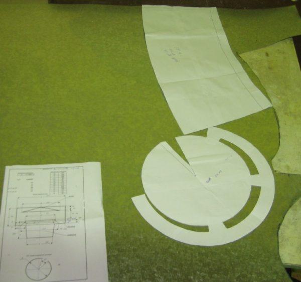 Шаблоны элементов дефлектора