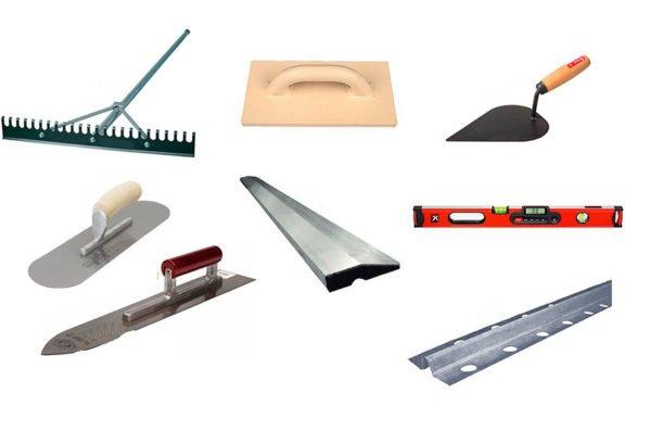 Инструменты для заливки стяжки