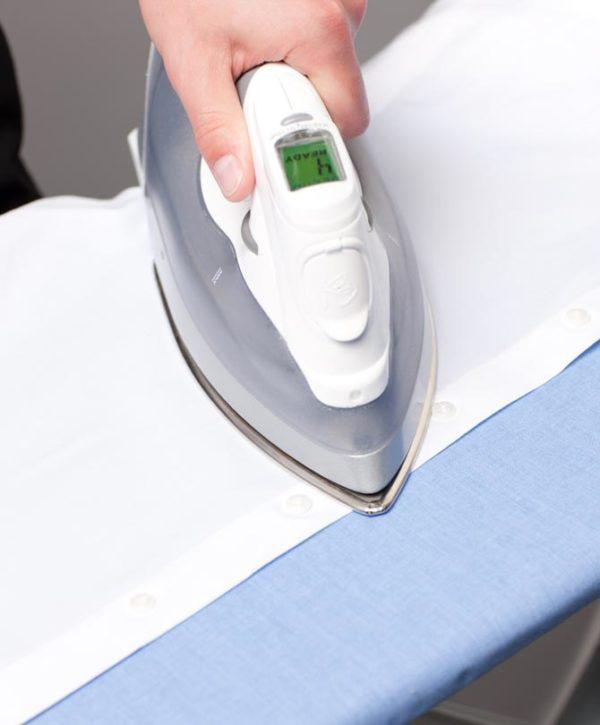 Как гладить полочку с пуговицами