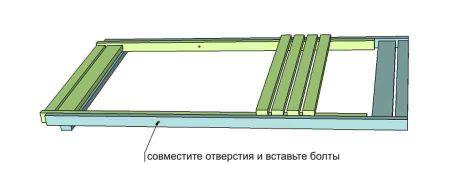 Крепление спинки и сидения