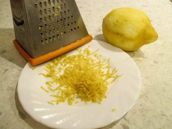 Подготовленная лимонная цедра