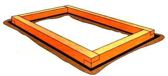 Нижняя обвязка деревянной конструкции