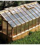 Отличная теплица с двускатной крышей