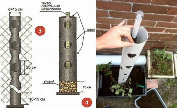Изготовление вертикальных грядок в ПВХ трубе