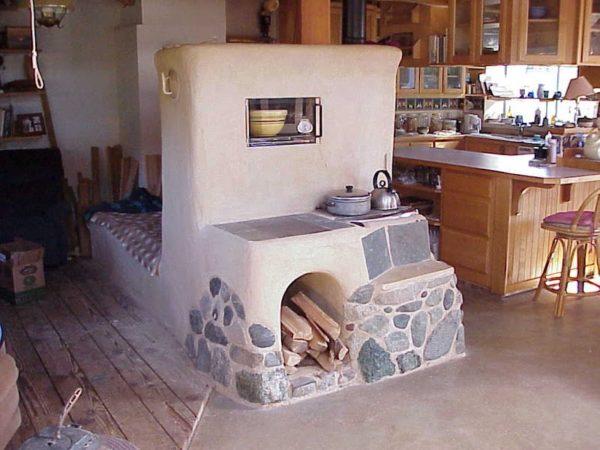 Реактивная печь с местом для отдыха