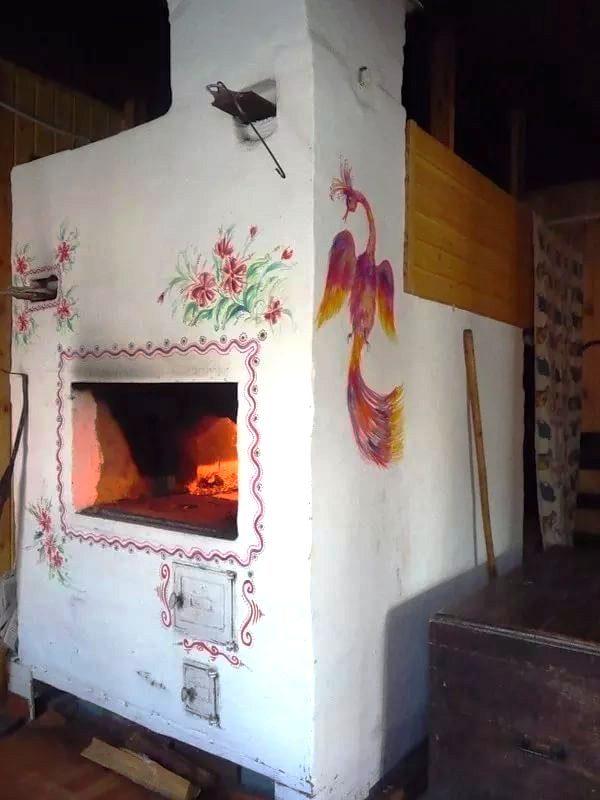 Расписать печь в доме своими руками фото