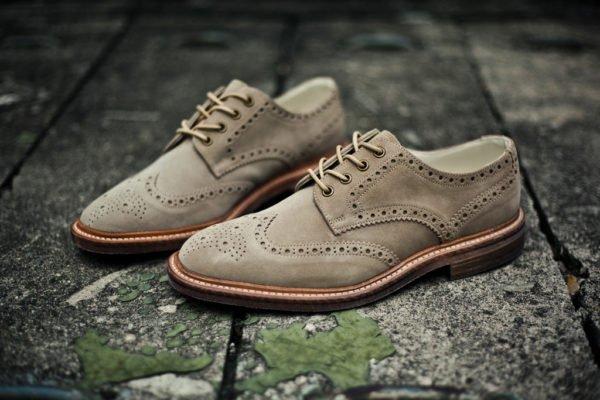 Серые замшевые туфли