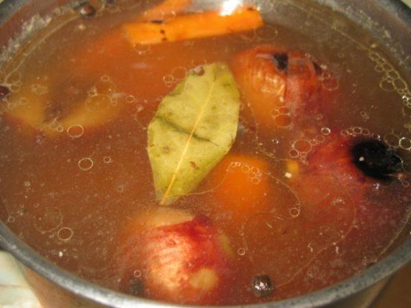 Овощи и коренья для бульона