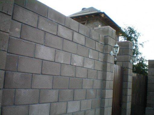 Забор блочный