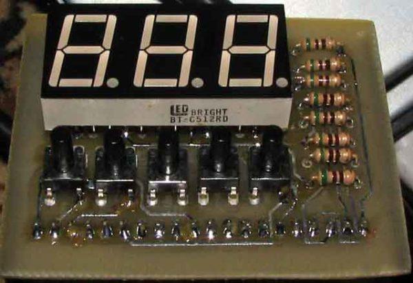 Светодиодный индикатор на плате