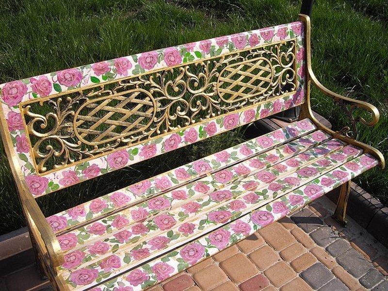 Декор своими руками скамейка