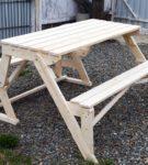 Деревянная скамья-трансформер