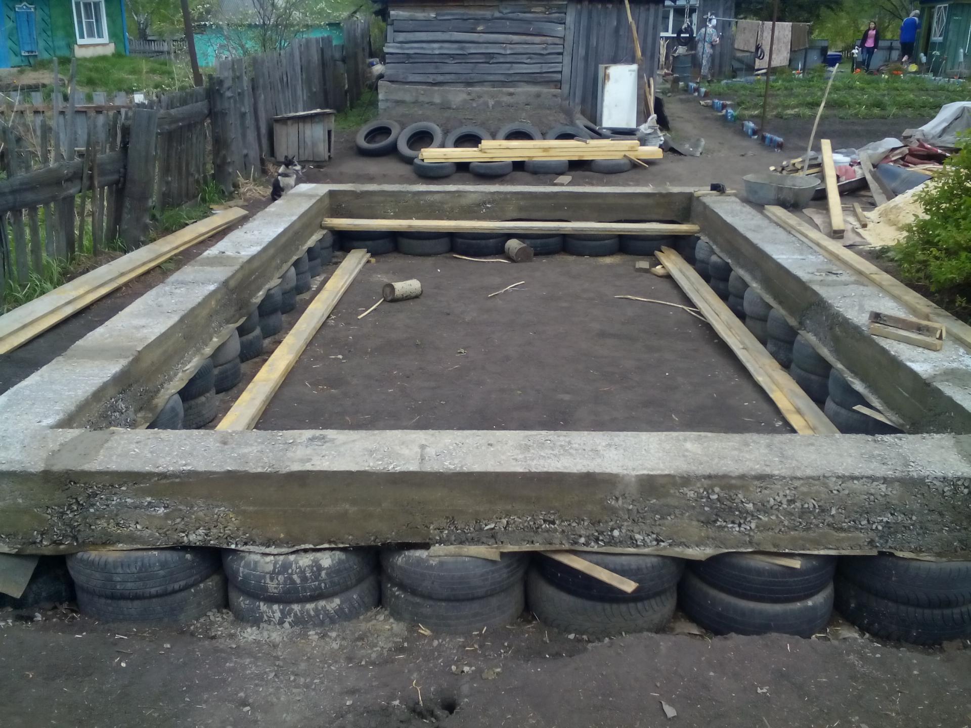 Фундамент своими руками из деревянных шпал 57