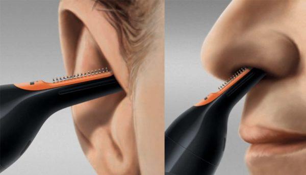 Как состригать триммером волосы в носу и ушах