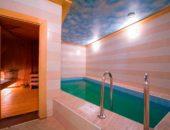 Компактный бассейн в бане