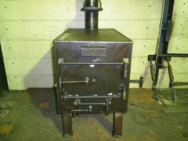 Квадратная печка-буржуйка