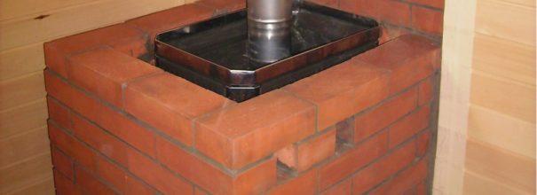 металлическая печь обложеннная кирпичом