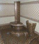 Небольшой хаммам с интерьером в стиле древнеримских терм