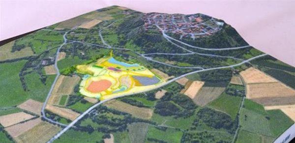 Объёмная карта местности, полученная на 3D-принтере